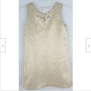 Gymboree Girls Dress 8 Gold Metallic Sleeveless